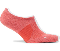 Two-pack Multiplier Logo-intarsia Dri-fit No-show Socks - Pink