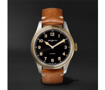 1858 Automatic 40mm Stainless Steel, Bronze And Leather Watch