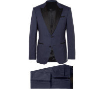 Navy Helward Gelvin Slim-fit Wool And Silk-blend Tuxedo
