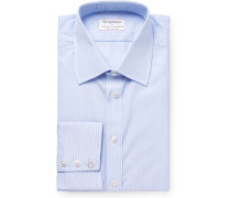 + Turnbull & Asser Light-blue Slim-fit Striped Cotton Shirt