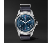 Summit 46mm Stainless Steel And Rubber Smart Watch