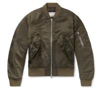 Makio Nylon Bomber Jacket - Army green