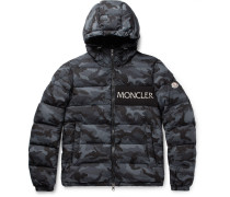Aiton Camouflage-print Quilted Shell Hooded Down Jacket - Charcoal
