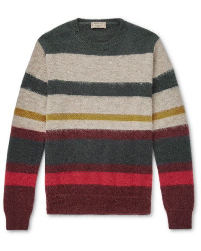 Striped Wool-blend Sweater - Multi