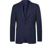 Navy Soho Slim-fit Stretch-wool Blazer