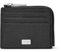 Crosstown Zip-around Full-grain Leather Cardholder - Black