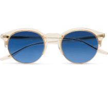 Griffin Round-frame Acetate And Gold-tone Sunglasses
