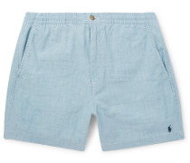 Prepster Stretch-cotton Chambray Shorts