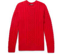 Lou Oversized Cable-knit Cotton Sweater