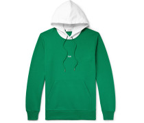 Taxi Tokyo Two-tone Logo-print Loopback Cotton-jersey Hoodie - Green