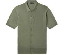 Slim-Fit Merino Wool Polo Shirt
