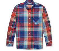 Dweller Button-Down Collar Checked Woven Shirt