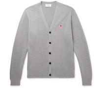 Logo-Appliquéd Merino Wool Cardigan