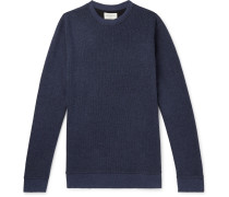Ribbed Cotton-Jersey Sweatshirt