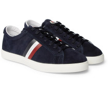 La Monaco Leather-trimmed Suede Sneakers