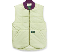 + Woolrich Logo-Appliquéd Quilted Padded Cotton-Blend Gilet