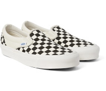 Og Classic Lx Checkerboard Canvas Slip-on Sneakers