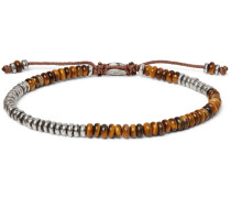 Sterling Silver and Tiger's Eye Beaded Bracelet