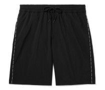 Long-Length Logo-Print Swim Shorts