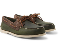 Authentic Original Two-Tone Leather Boat Shoes