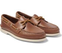 Authentic Original Leather Boat Shoes - Tan
