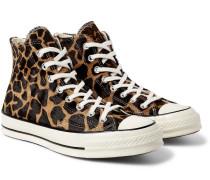 1970s Chuck Taylor All Star Giraffe-print Calf Hair High-top Sneakers - Multi