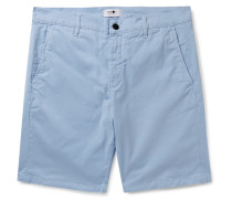 Crown Stretch-Cotton Twill Shorts