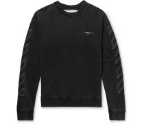 Printed Loopback Cotton-jersey Sweatshirt - Anthracite