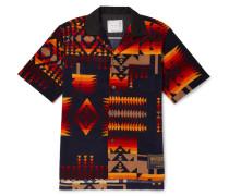 + Pendleton Camp-collar Printed Cotton-corduroy Shirt - Navy