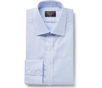Slim-Fit Checked Cotton Oxford Shirt
