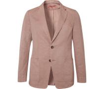 Light-Pink Unstructured Cotton and Linen-Blend Blazer