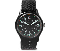 Mk1 Aluminium And Nylon-webbing Watch - Black
