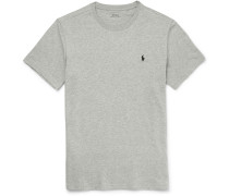 Slim-fit Cotton-jersey T-shirt - Gray