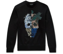 Patchwork Printed Cotton-jersey Sweatshirt