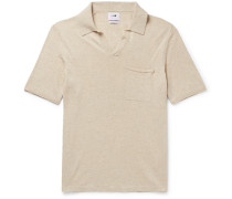 Ryan Slim-Fit Mélange Cotton and Linen-Blend Polo Shirt