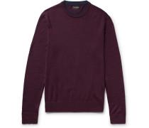 Slim-fit Layered Merino Wool Sweater
