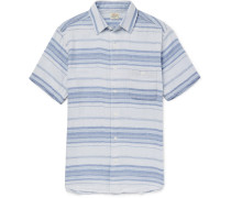Ventura Striped Cotton Shirt - Blue