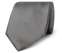 7cm Silk-jacquard Tie - Silver