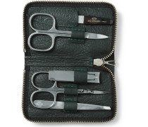 Grained Leather-Bound Manicure Set