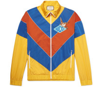 Appliquéd Colour-block Shell Jacket