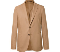 Camel Nold Unstructured Virgin Wool-blend Blazer - Camel