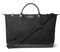 Hartsfield Leather-Trimmed Organic Cotton-Canvas Holdall