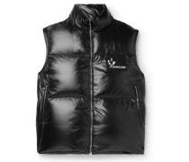 Banker Slim-fit Quilted Shell Down Gilet - Black