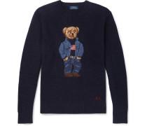 Bear-intarsia Wool Sweater