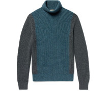 Dolcevita Fortrose Colour-block Ribbed Cashmere Rollneck Sweater