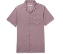 Dario Camp-collar Cotton And Linen-blend Shirt