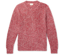 Mélange Mohair, Wool, Paper And Silk-blend Sweater - Red