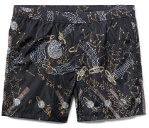+ Zandra Rhodes Lunar Punk Mid-length Printed Swim Shorts