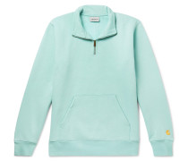 Chase Fleece-back Cotton-blend Jersey Half-zip Sweatshirt - Mint