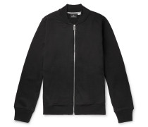 Organic Loopback Cotton-jersey Bomber Jacket - Black